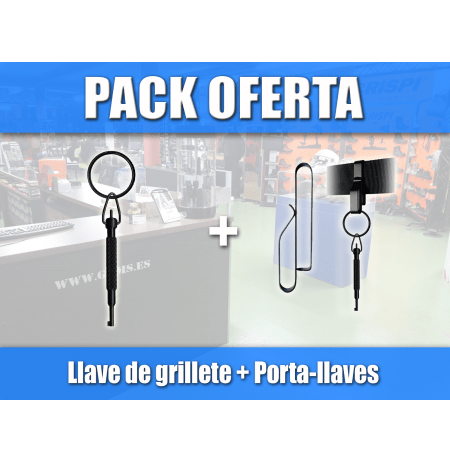 PACK PORTALLAVES + LLAVE GRILLETES