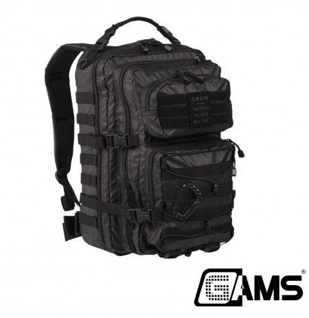 Mochila 36 litros MILTEC Assault PACK color negro.